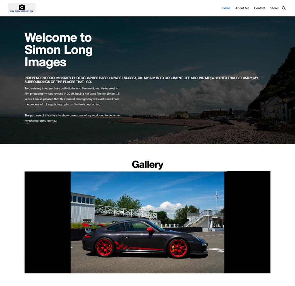 screenshot of simonlongimages website